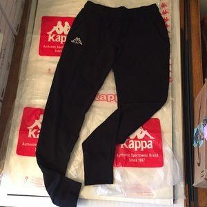 Kappa Black sweatpants NWT XS